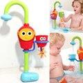 2016 venda quente brinquedos do banho do bebê play automático bico torneiras/sustentada dobrável spray chuveiros torneira brinquedo