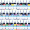 100 pçs/lote de alta qualidade máquina de tatuagem profissional Ink Tattoo 54 cores definir 1 oz 30 ml / Bottle pigmento para Kit Tattoo