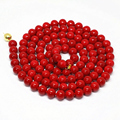 High grade red imitation coral round beads necklace 8,10,12mm women party fit clothes long chain jewelry making 36inch B1488