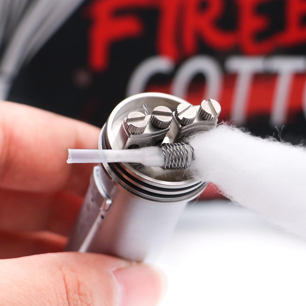 Image 4 - NEW Electronic cigarette Cotton Vapefly Firebolt Cotton Vape Cotton for RDA RTA Coil Wick vaporizer Pre loaded organic CottonElectronic Cigarette Accessories   -