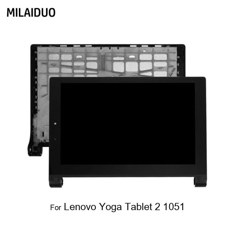 Display LCD Per Lenovo Yoga Tablet 2 1051 1051F 1051L LCD Touch Screen Digitizer Montaggio del Sensore di Nero con Cornice 10.1Display LCD Per Lenovo Yoga Tablet 2 1051 1051F 1051L LCD Touch Screen Digitizer Montaggio del Sensore di Nero con Cornice 10.1