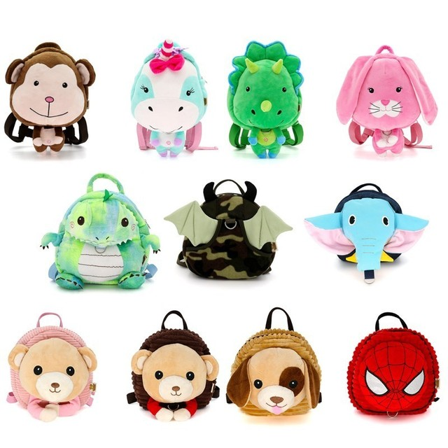 Image of: Royalty Kawaii Animals Spiderman Prevent Fall Cute Cartoon Traction Bags Kids Doll Plush Soft Backpack Toy For Kindergarten Girl Hot Aliexpresscom Kawaii Animals Spiderman Prevent Fall Cute Cartoon Traction Bags