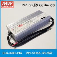 Original Meanwell LED driver HLG 320H 24A 320W 13.34A 24V current/voltage adjustable waterproof IP65 Mean well LED Power Supply