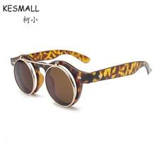 KESMALL Hombre de Conducción Gafas de Sol de Las Mujeres de La Vendimia de Steampunk Gafas de Sol Acetato UV400 Gafas gafas De Sol YL346