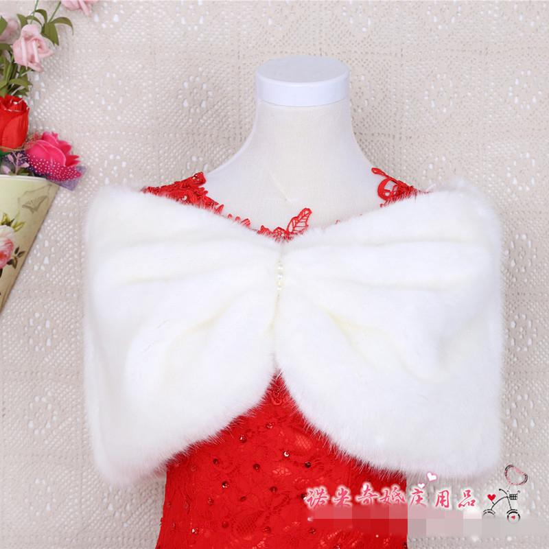hiver mariage cape blanche manteau de fourrure de mariage chle veste de marie wraps bolro en - Tole Blanche Mariage
