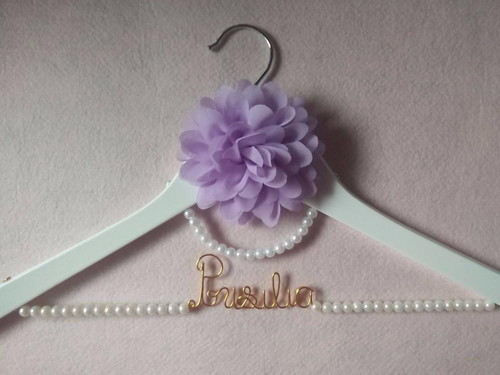 Envío gratis suspensión con perla boda personalizada percha, - Organización y almacenamiento en la casa