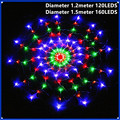 1.2 m 120Led Festival Colorido Teia de aranha Levou Luzes De Fadas string Criativo Net