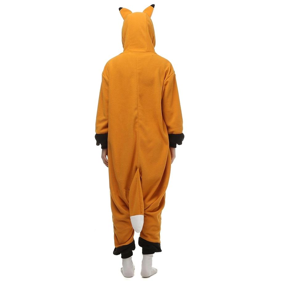 Fox Fleece Kostuums Dames Heren Jumpsuit Pyjama Halloween Party - Carnavalskostuums - Foto 4