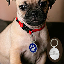 Paw Print Personalized Engraved Dogs ID Tags