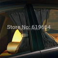 New Hot Sell Black Mesh Fabric Car Auto 2PCS 50S Mesh Window Curtain Sunshade Set 71 x 39cm/27.95x15.35inch- 70S
