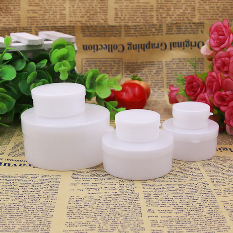 5g/10g/20g/30g/50g/100g Portable Traval Empty Cosmetic Jar Pot Cosmetic Container Refillable Bottles Plastic White Color P3