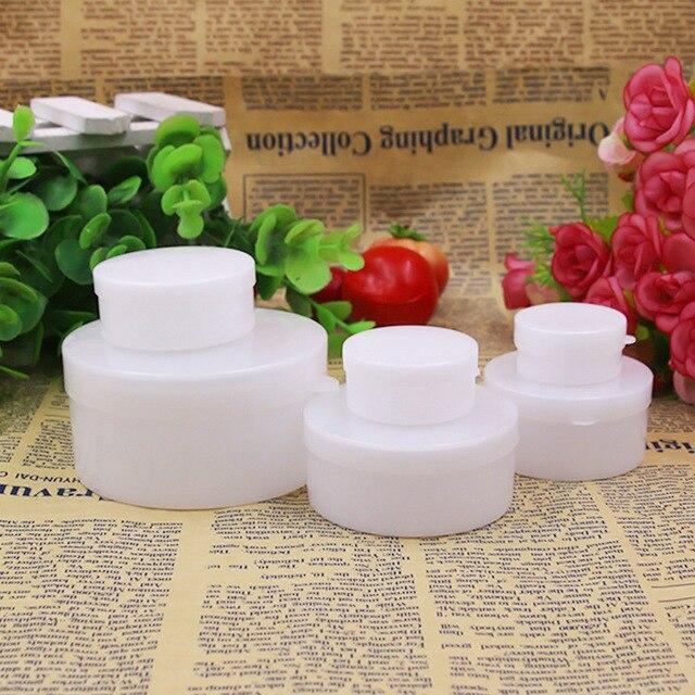 5g/10g/20g/30g/50g/100g Portable Traval Vide Pot cosmétique Pot Récipient Cosmétique Bouteilles Réutilisables En Plastique Blanc Couleur P3