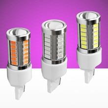 High Quality T20 7440 W21W WY21W 33 SMD 5630 5730 LED Auto Brake Lights Rear Fog Lamps Car DRL Light Reverse Bulbs Turn Signals