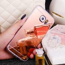 Luxury Mirror Case Cover for Samsung Galaxy S8 Plus S7 Edge S6 S5 S4 S3 Core Prime G360 Note 8 5 4 3 Soft Fundas Rose Gold фитнес браслет xride s3 rose gold