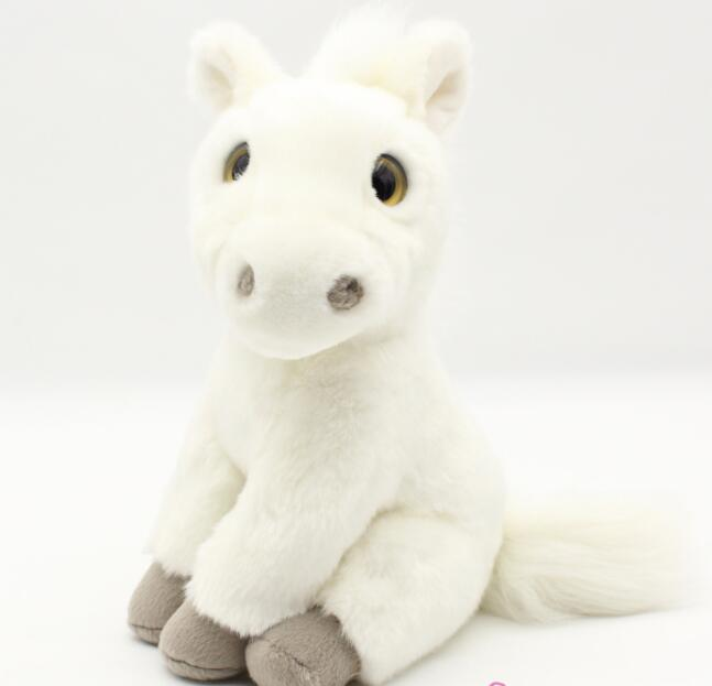 Plush Animals Toy Simulation White Horse Doll  Children'S Educational Toys Lovely Ornaments lovely simulation sleeping cat toy plush doll for car home