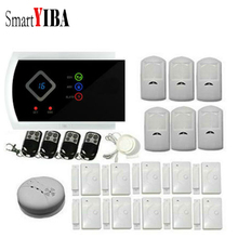 SmartYIBA Russian Spanish French Voice Wireless Wired Home Burglar Alarm System Gas Smoke Fire Sensor Detector