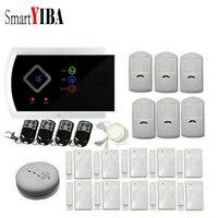 SmartYIBA Russian Spanish French Voice Wireless Wired Home Burglar Alarm System Gas Smoke Fire Sensor Detector Wired Siren