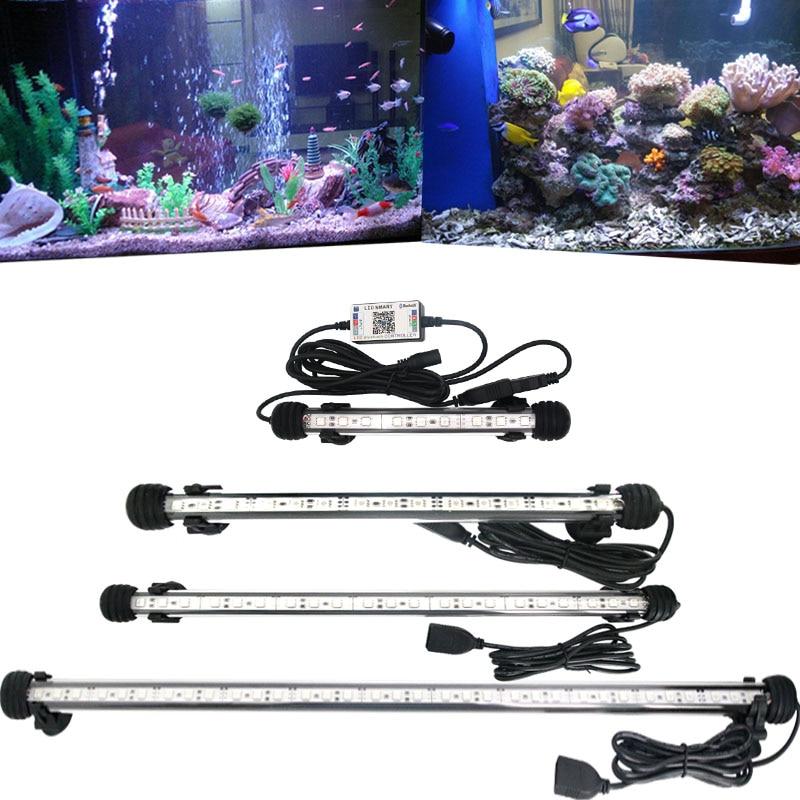 Купить с кэшбэком Planted Led Aquarium Lighting Lamp For Aquarium Marine Led Light For Fish Tank RGB Bluetooth Controller Aquarium Led Lighting