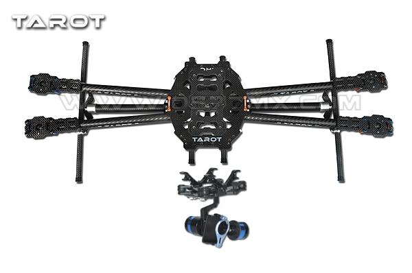 Tarot-rc FY650 3K Pure Carbon Fiber Folding 650mm FPV Quadcopter Frame TL65B01 with 2 Axis BGC TL68A00 Brushless Gimbal T-2D tator rc 3k carbon fiber plate 3 5mm tl2900