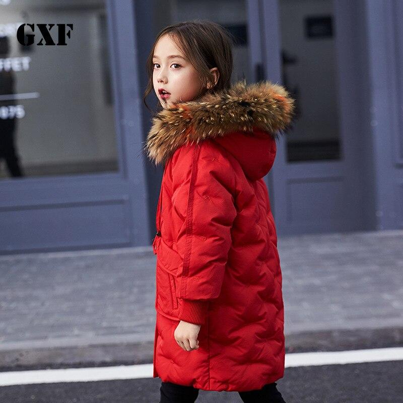 down jacket 2018 new girls' down jacket, children's lengthening, thickening, warm children's wear, down clothing. girls clothing down