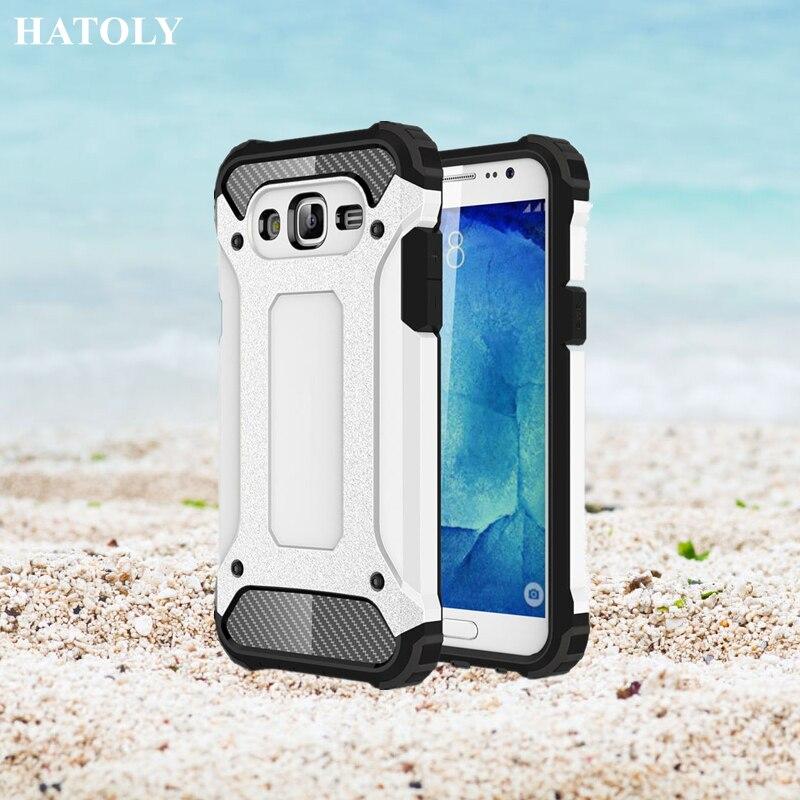 HATOLY Para Samsung Galaxy J5 2015 Case Heavy Duty Armor Duro de goma Cubierta d