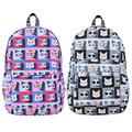 New Fashion Women Backpack Cartoon Cat Graffiti Canvas Backpacks for Teenage Girl Women Shoulder Bag Rucksack Mochila