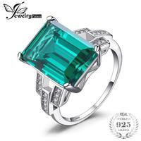aa77079897fd JewelryPalace de 5.9ct Esmeralda anillo de cóctel 100% Real 925 anillos de  plata esterlina