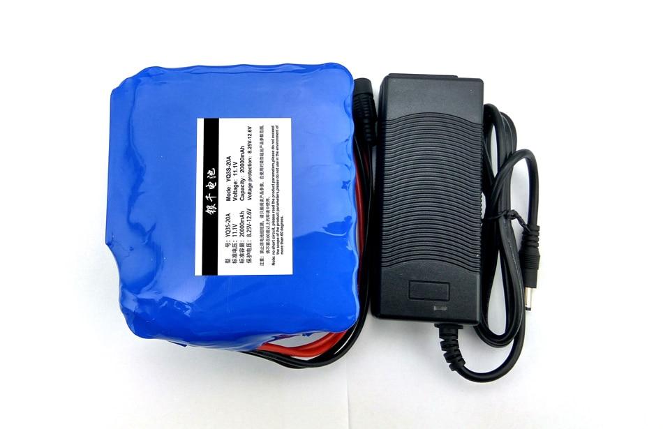 12 V 20000 mAh batterie au lithium batterie de la lampe de mineur 35 W lampe au xénon 55 W + batterie au lithium chargeur 12.6 V 3A (TAILLE: 185*70*56mm)