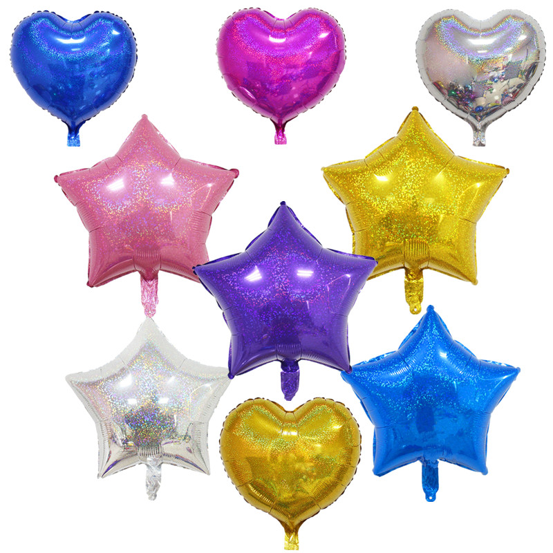 New Fashion 18 Inch Foil Star Shape Balloon Helium Birthday Summer Outdoor Party Wedding Decor Air Mylar Balloon Toy 8 Color Choose Toy Balls