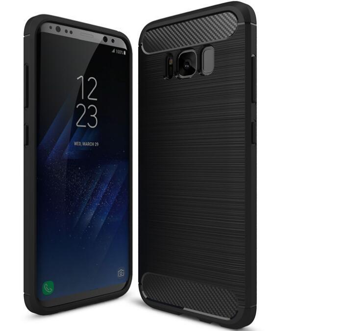 Original för Samsung Galaxy S8 bakomslag fodral Kolfiber Mjuk TPU - Reservdelar och tillbehör för mobiltelefoner