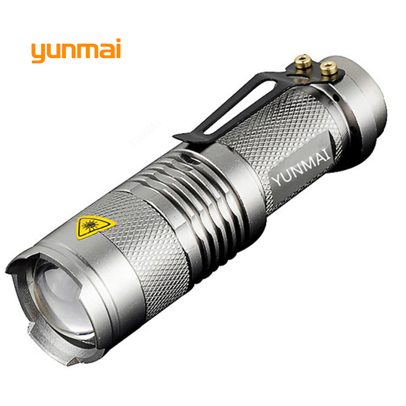 Powerful Mini Penlight Led Flashlight ZOOMABLE 3 Mode NEW Q5 2000 lumen ZOOM Tactical AA 14500 battery Flashlight Torch Lamp in Flashlights Torches from Lights Lighting