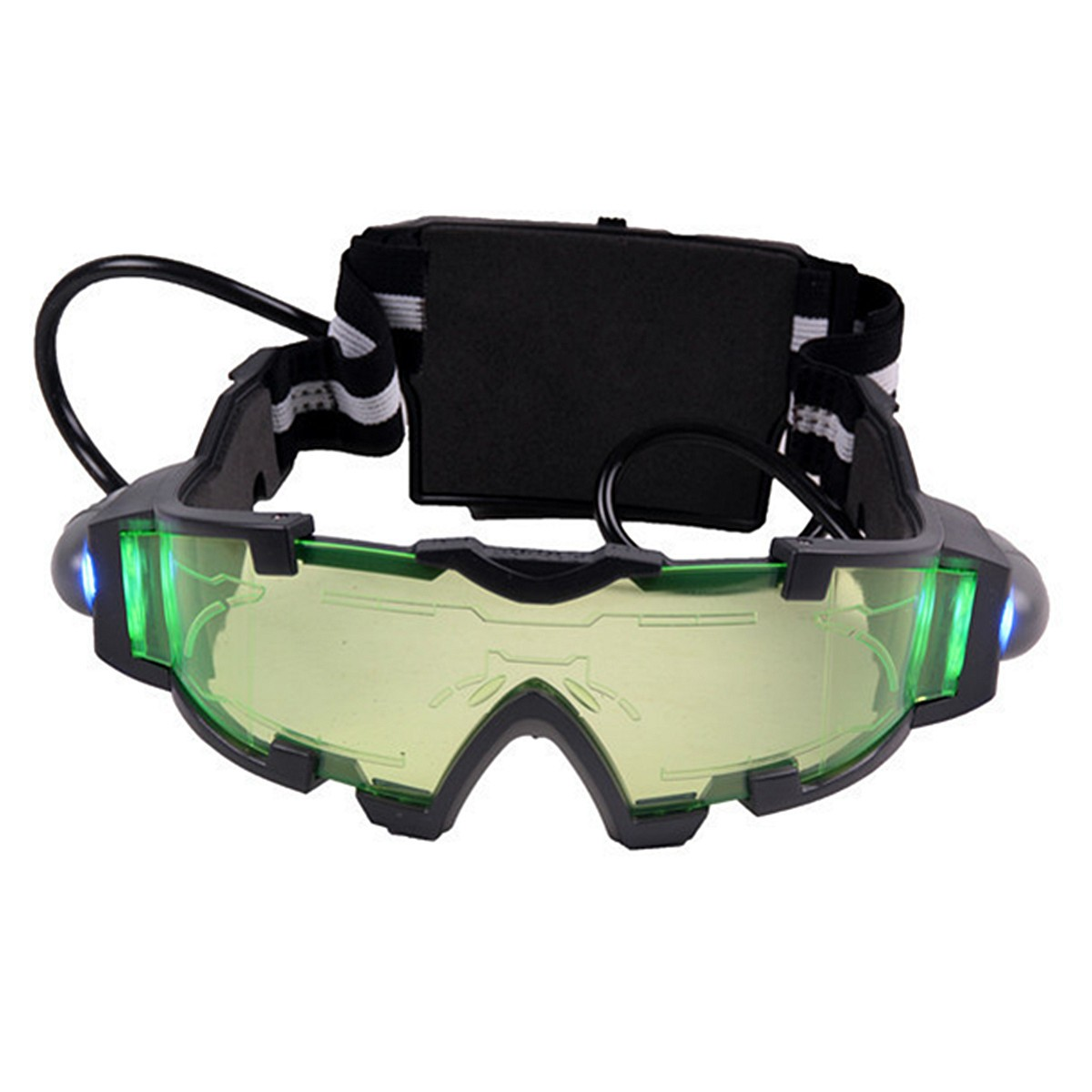 Adjustable Elastic Military Night Vision Goggles Glasses Windproof Security Eyeshield Safety Eye Protection Glasses adjustable windproof elastic band night vision goggles glass children protection glasses green lens eye shield with led