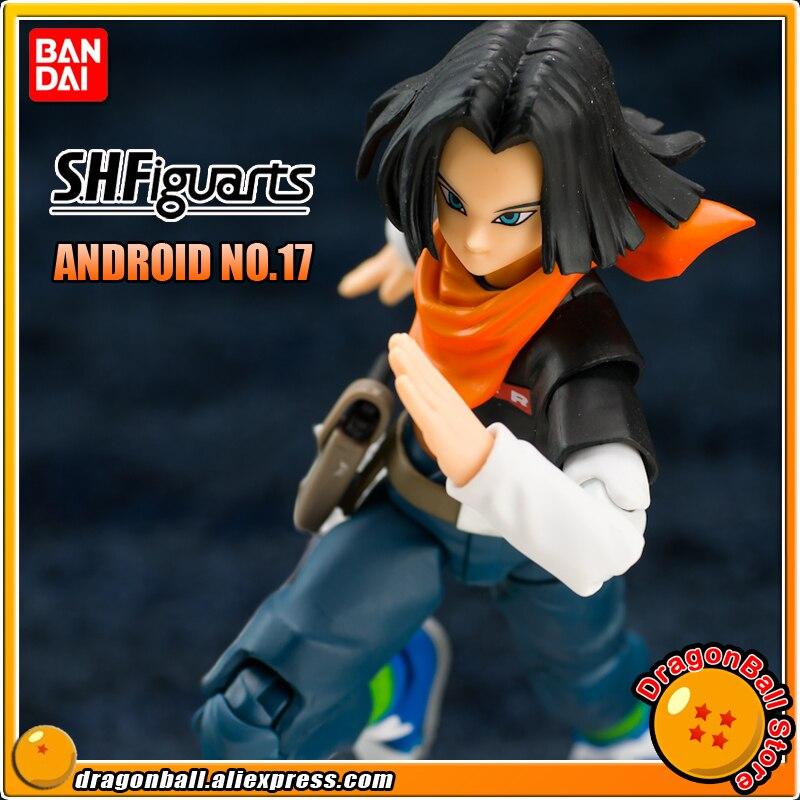 DRAGONBALL Dragon Ball Z/Kai Оригинальные BANDAI Tamashii Наций S. h. figuarts/СВЧ эксклюзивная фигурка игрушка Android № 17