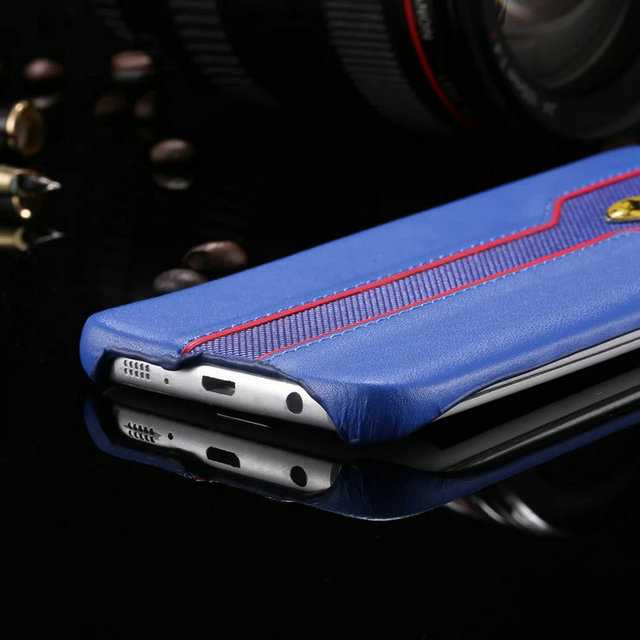 Ferrari Logo PU Leather Case For Samsung