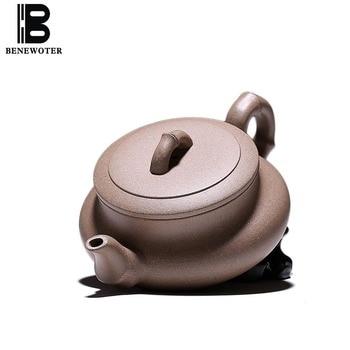 200cc Yixing Purple Clay Bamboo Shape Teapot Vintage Drinkware Raw Ore Qing Hui Duan Mud Zisha Pot Tea Ceremony Green Tea Kettle