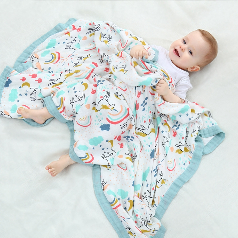 4 Layers Baby Bamboo Blanket Autumn & Winter Bedding Newborn Wraps Baby Kids Cover Quilt Infant Travel Bath Towel Size 47*47 new hitech 5 7 inch hmi touch screen plc hmi operator panel display mono stn lcd pws6600s p 640 480 2com 1year warranty