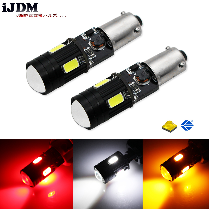 2pcs car styling H21W BAY9s 120 degress Canbus High Power yellow 9W 4-SMD CRE'E LED Lens Bulbs for Front rear Turn Signal lights free shipping 2pcs lot car styling car led lamp canbus bay9s rear fog lamp for opel antara