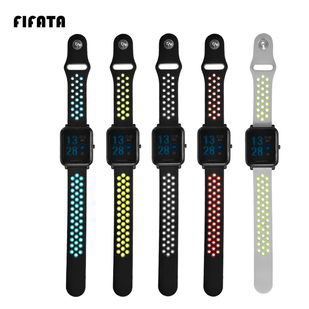 FIFATA Strap For Xiaomi Huami Amazfit Bip BIT PACE Lite Youth Smart Watch Wearable Wrist Bracelet Watchband for Amazfit Youth hangrui replacement watch strap for xiaomi huawei bip bit pace lite youth smart watch band accessories for huami amazfit youth