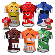 7 colors M&Ms Summer Cycling Jerseys Funny Cycling Clothing Mtb Bicycle top Shirt Short Maillot Ropa Ciclismo Bike Wear Clothes