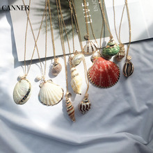Canner Gold Chain Sea Shell Choker Necklace Handmade Bohemian Summer Beach Conch For Women Girl Jewelry W4