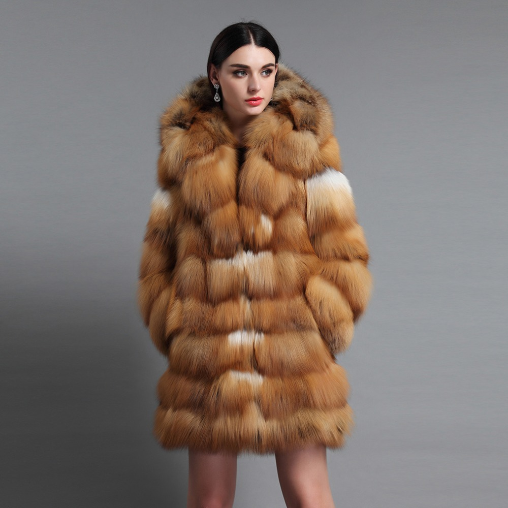 043c12140a35 Fur Story 16192 Top Grade Women s Real Silver Fox Fur Coat with Big Fur  Hood Natural Fur Overcoat Red Fox Coat Hoodie-in Real Fur from Women s  Clothing on ...