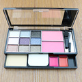 Eye shadow Makeup Palette set 16 colors Matte Eyeshadow Lip Gloss Foundation Powder Cosmetic Brush Puff set cosmetic tools