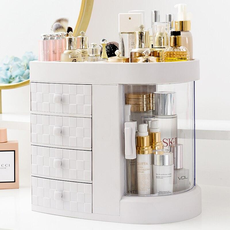Nouveau recommander tiroir en plastique de luxe boîte de rangement cosmétique chambre coiffeuse maquillage organisateur laissez votre beauté en toute simplicité