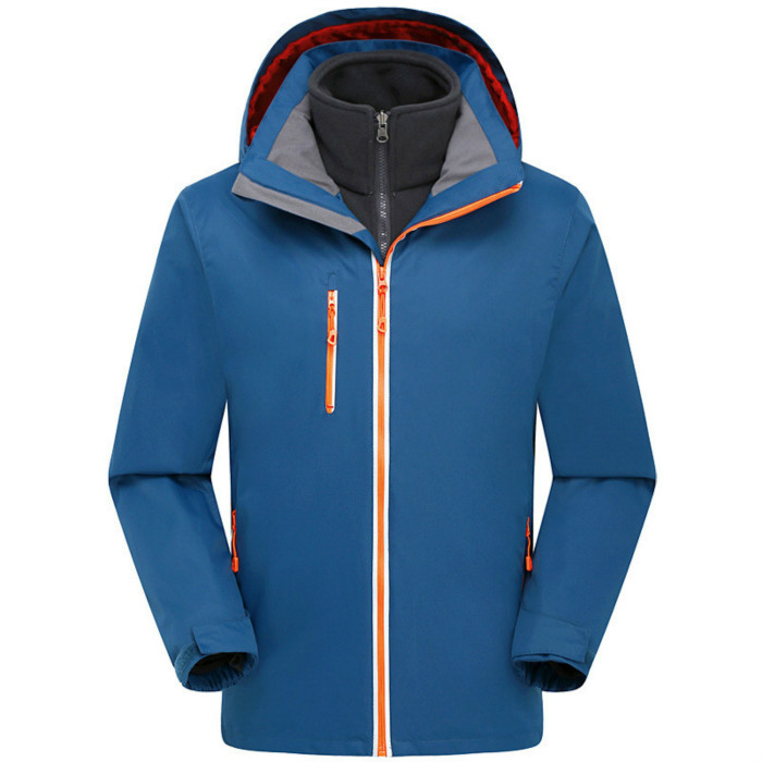 цена на Autumn and winter stormtrooper clothing three in one men two sets of outdoor soft shell warm mountain ski wear size XS-3XL