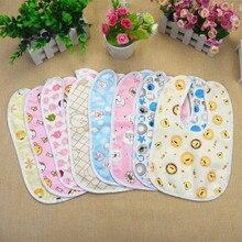 3pcs Lovely Cute Cartoon Pattern Toddler Baby Waterproof Saliva Towel Cotton Baby Boys Girls Bibs
