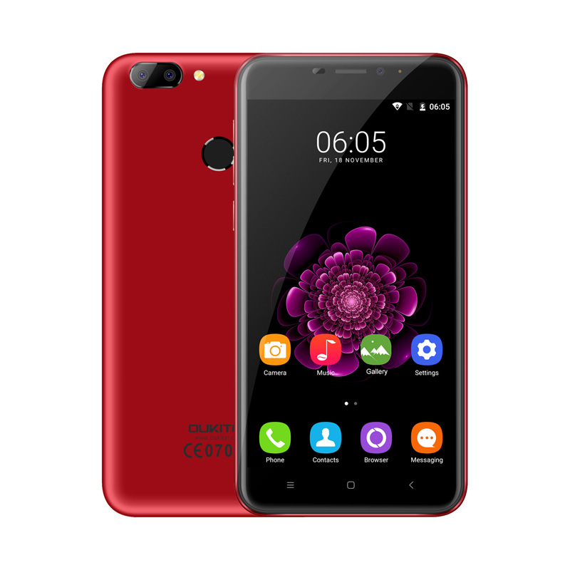 Oukitel MTK6737T U20 Plus Smartphone de 5.5 pulgadas IPS FHD Quad Core 13MP Lent