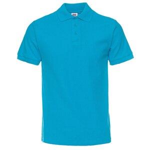 Image 1 - Мужская рубашка поло, Мужская одежда, мужские футболки поло, Повседневная летняя хлопковая Однотонная рубашка поло, 2019
