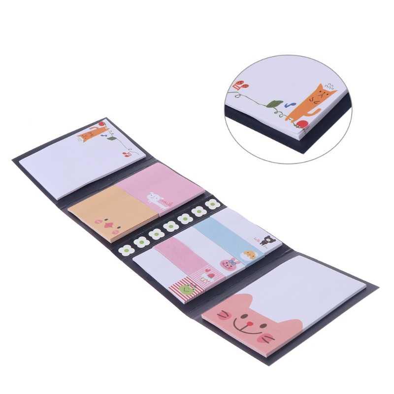 OOTDTY 2018 Animal Bonito Dos Desenhos Animados Nota Pegajosa Memo Pad Notebook Etiqueta do Presente Dos Artigos de Papelaria
