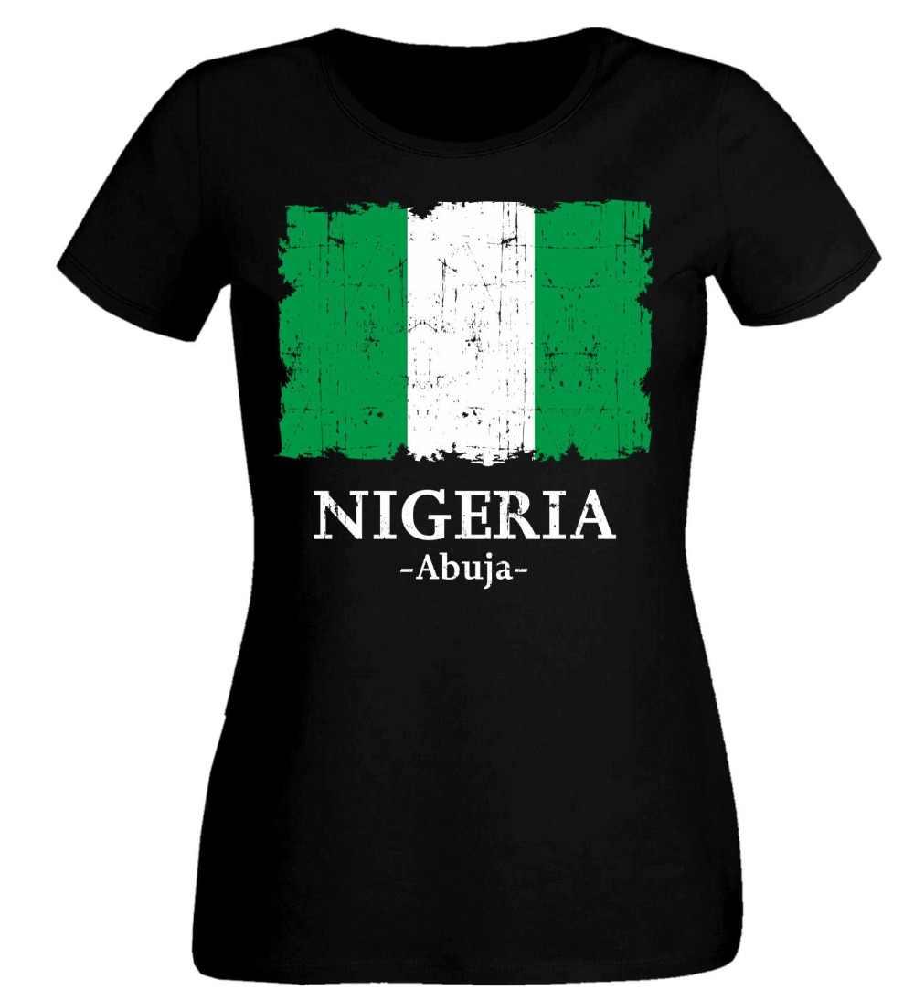 2019 Donne di Estate T-Shirt Nigeria T-Shirt Calcio Attrezzature varie T delle Donne della Camicia Calciatore T-Shirt Carino
