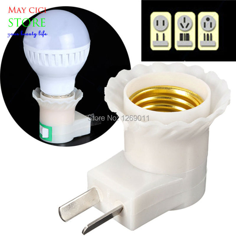 Lighting 3 Pin Uk Main Plug E27 Base Led Light Lamp Holder